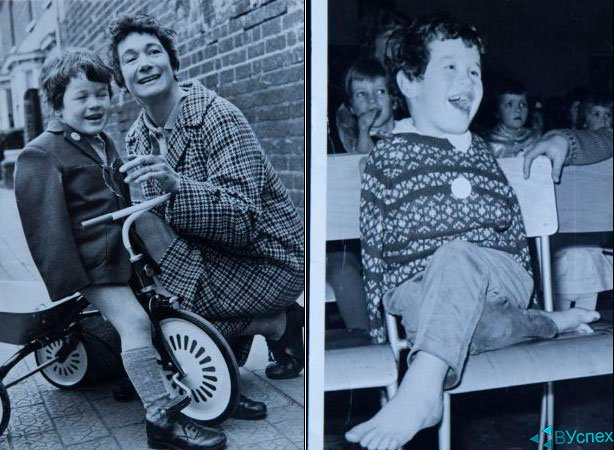 Том Йендел в детстве с матерью
