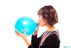 Упражнения правильного дыхания воздушный шарик