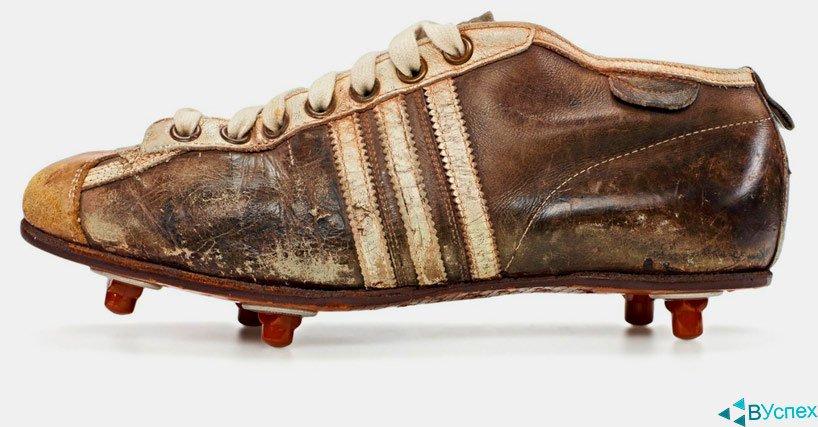 Бутсы Adidas (Адидас) 1954г на чемпионате мира по футболу.