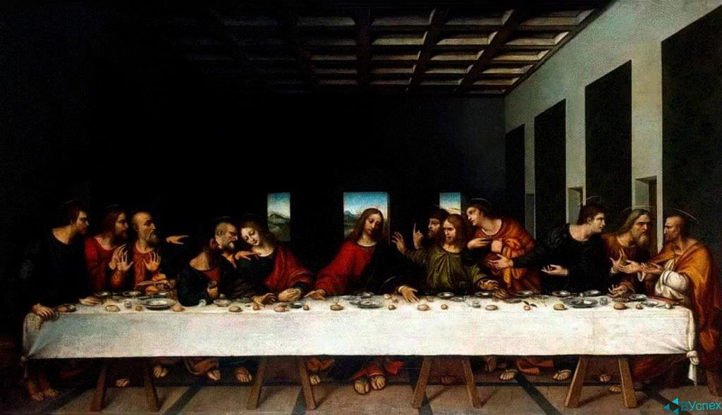Леонардо Да Винчи —  гениальный человек, математик, изобретатель, техник, создал написал картину Тайная вечеря