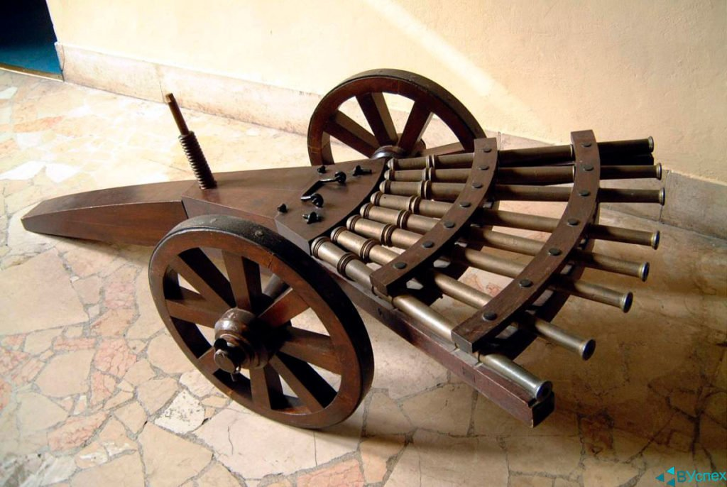 Леонардо Да Винчи —  гениальный человек, математик, изобретатель, техник, создал скорострельное оружие