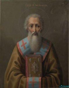 Икона Григория Журавлева — Святой Лев, папа Римский.