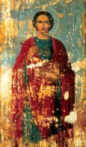 Икона Григория Журавлева — Великомученик Пантелеимон Целитель.
