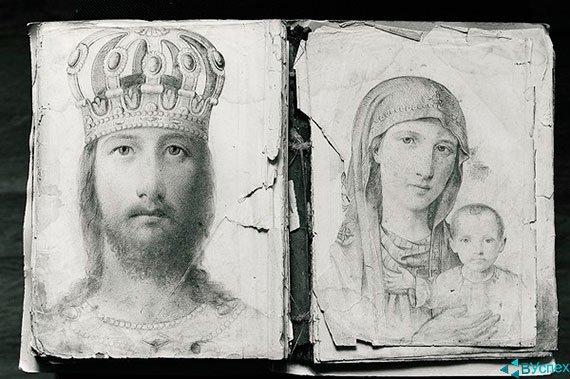 Иконы Григория Журавлева — Христос Спаситель и Богоматерь с Младенцем.