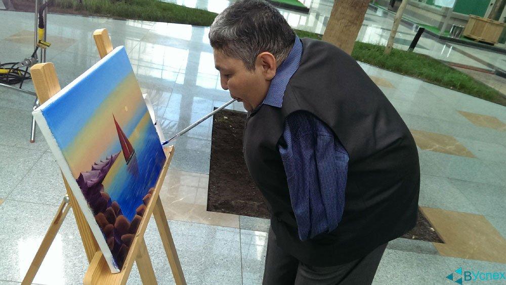 Картина Карипбэка на тему пейзаж