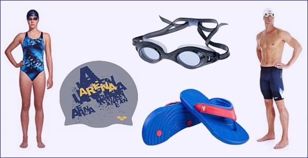 Одежда и атрибуты для плавания